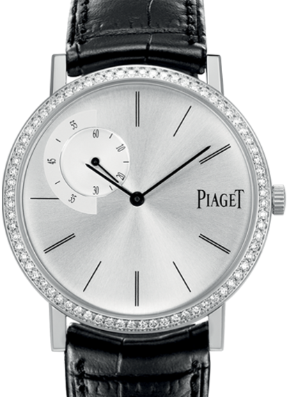 Altiplano white gold diamond bezel