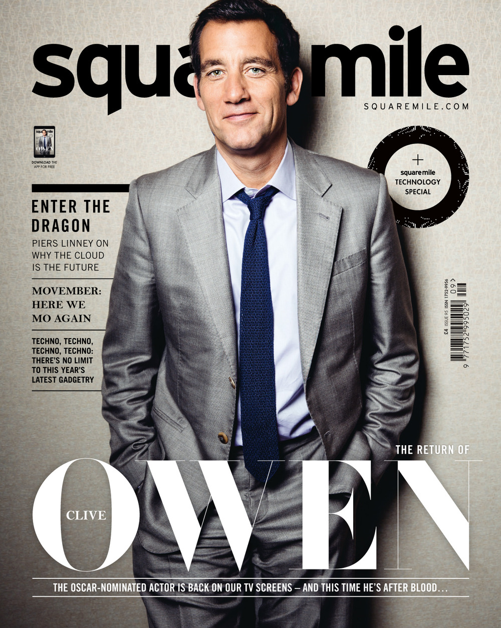Square Mile November 2014 Clive Owen