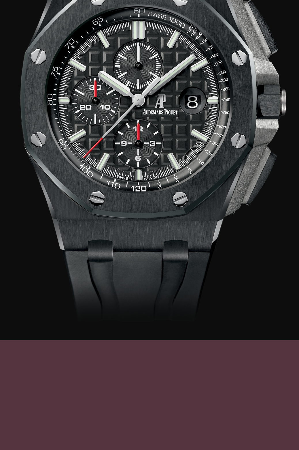 Royal oak offshore chronograph 44mm ceramic audemars piguet the collection for Royal oak offshore ceramic