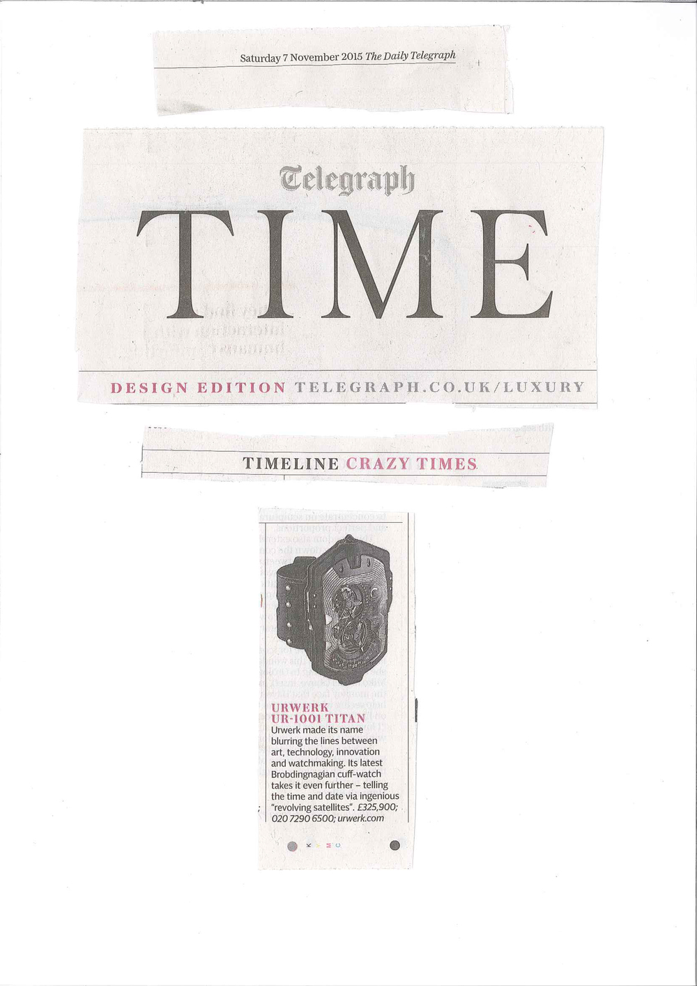 Telegraph Time Nov 15