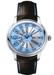 MILLENARY WHITE GOLD BLUE ARABIC DIAL