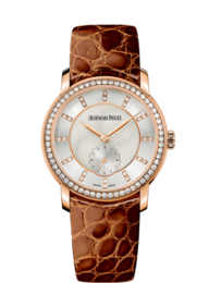 JULES AUDEMARS LADIES ROSE GOLD WITH DIAMONDS
