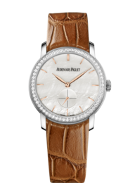 JULES AUDEMARS LADIES WHITE GOLD WITH MOTHER-OF-PEARL DIAL