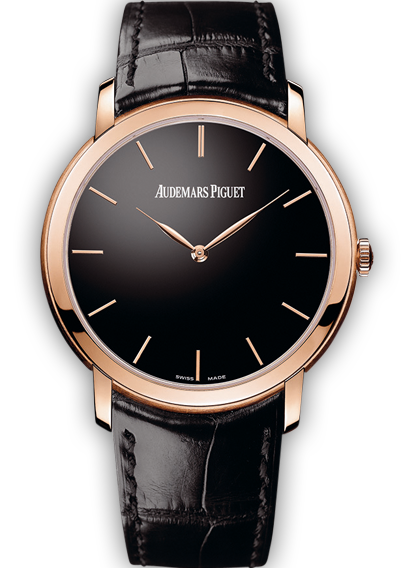 Jules Audemars Extra Thin Pink Gold Black Dial