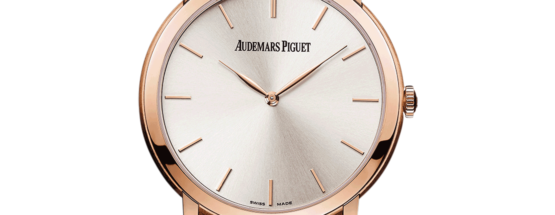 Jules Audemars Extra Thin Pink Gold Silver Dial