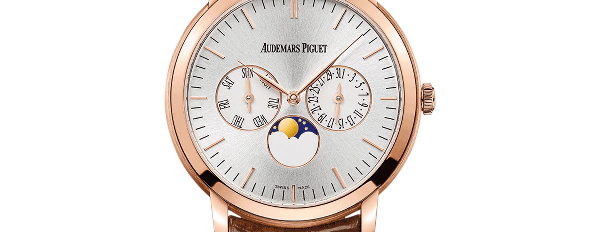 Jules Audemars Moon Phase Calendar Pink Gold