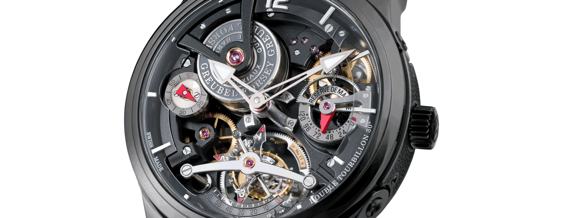 Double Tourbillon 30º Technique Black Titanium