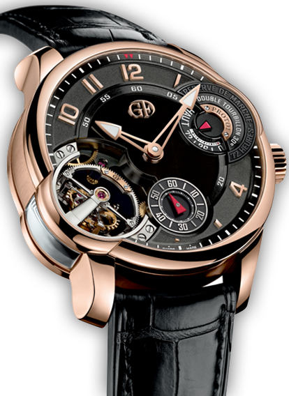 Double Tourbillon 30° Asymmetrical Red Gold