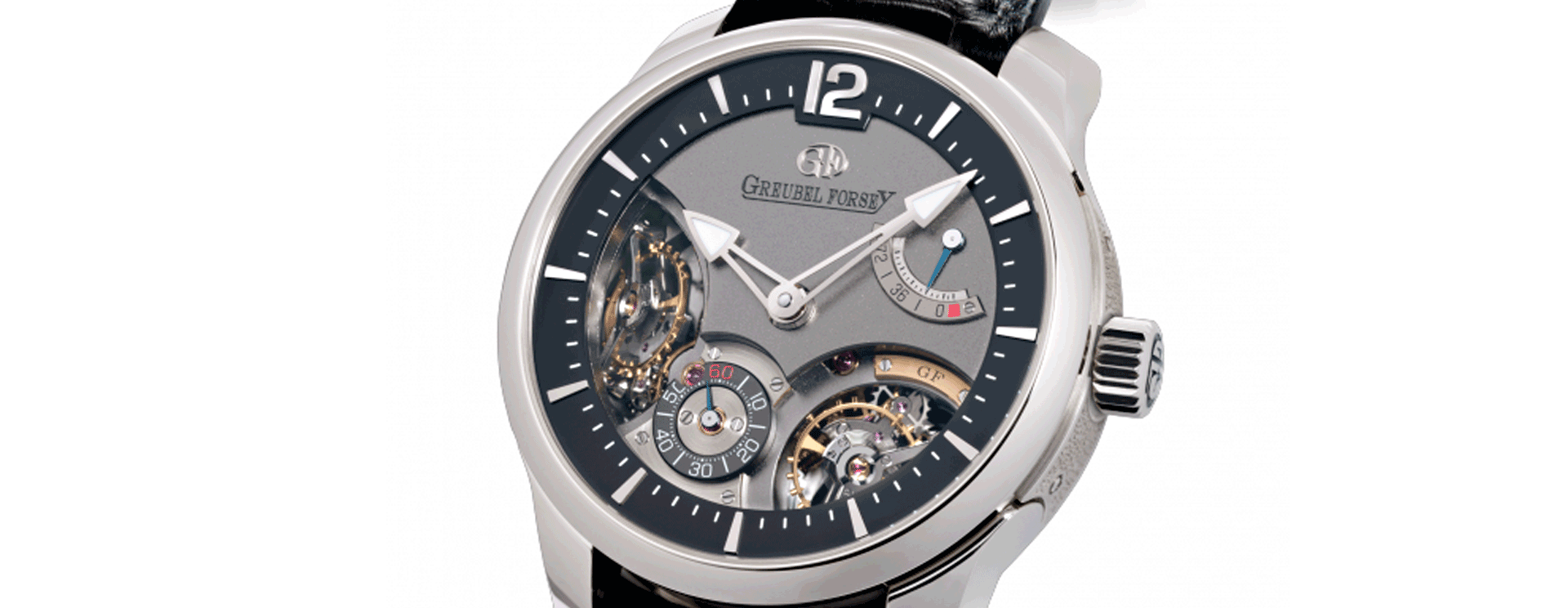 Double Balancier 35º White Gold