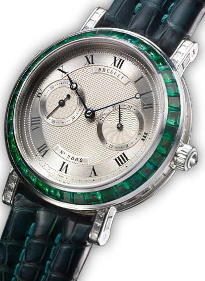 CLASSIQUE MINUTE REPEATER  DIAMOND EMERALD UNIQUE PIECE 24 HOUR TIME