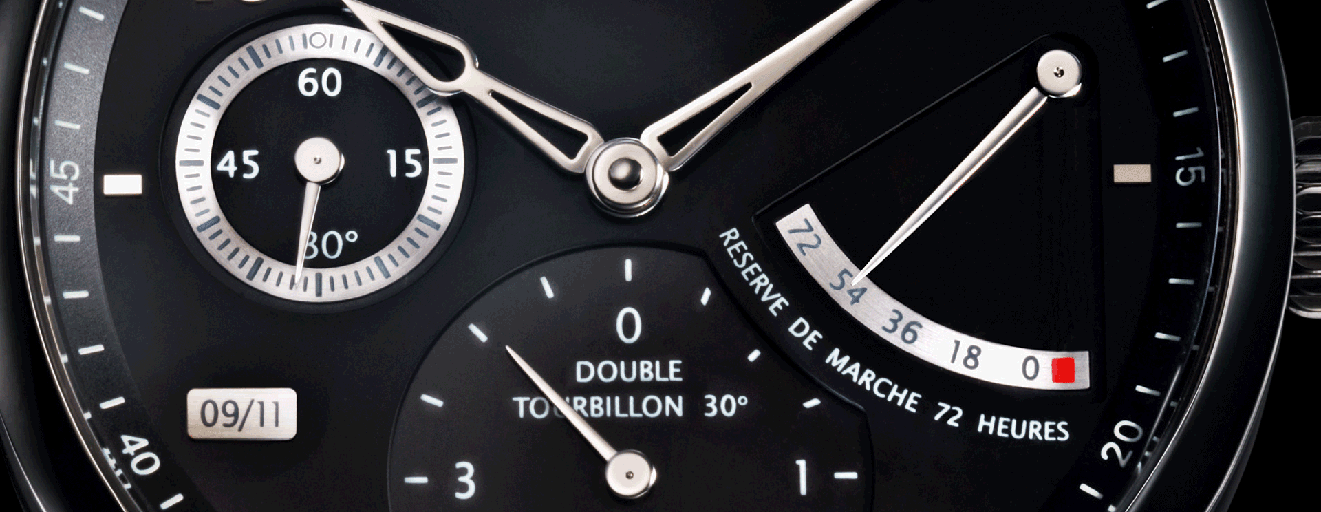 UNIQUE DOUBLE TOURBILLON 30º  SECRET