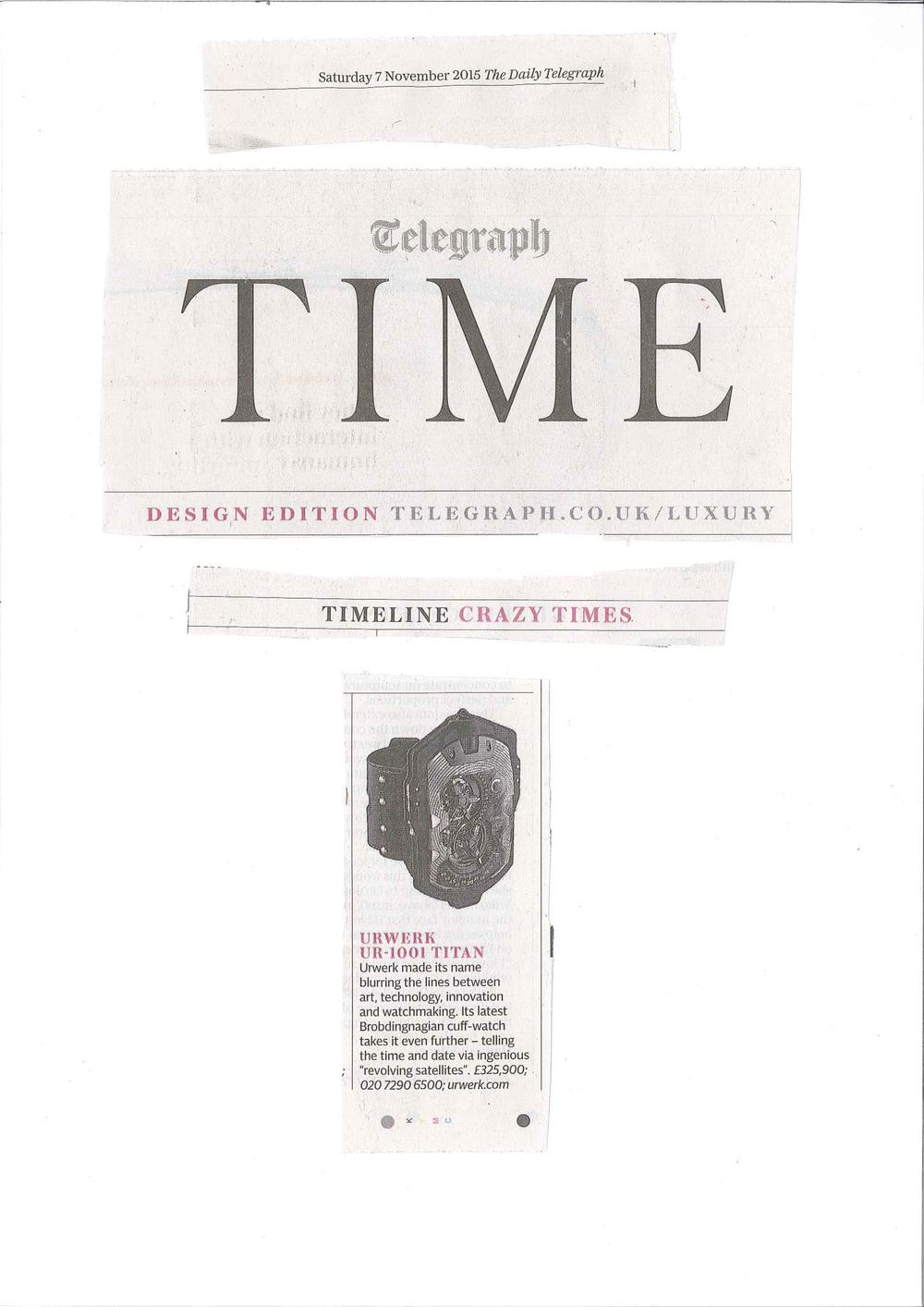 Telegraph Time Nov 15