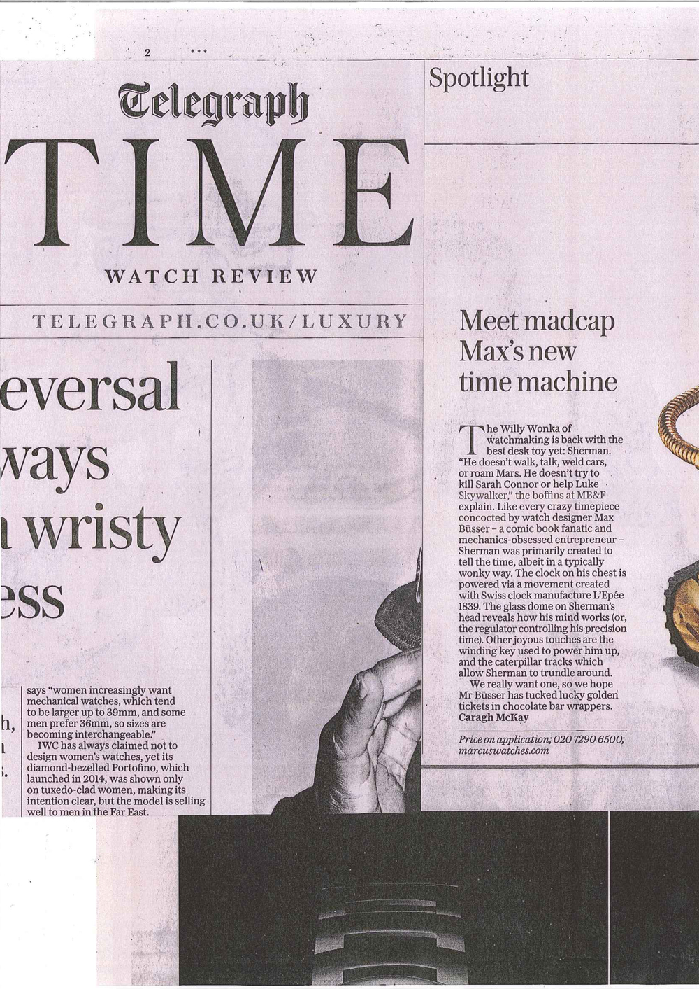 Telegraph Time Watch Review 19 March 2016