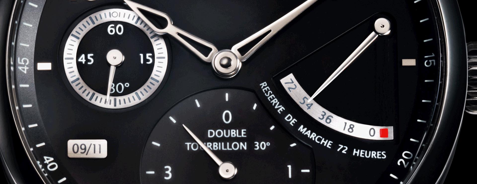 UNIQUE DOUBLE TOURBILLON 30º  SECRET
